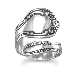 Jewelry - Oxidized Sterling Silver Spoon Ring